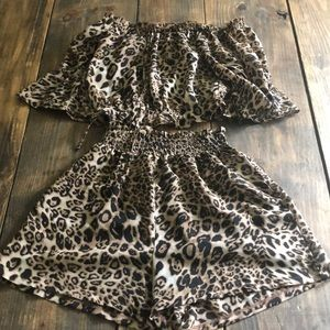 Two Piece Leopard Set